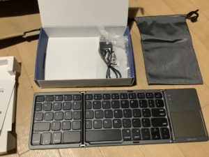 Bluetoothキーボード ewin 内容物 2