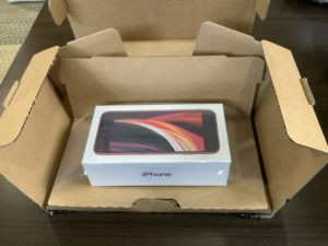 新型iPhoneSE 開封の儀