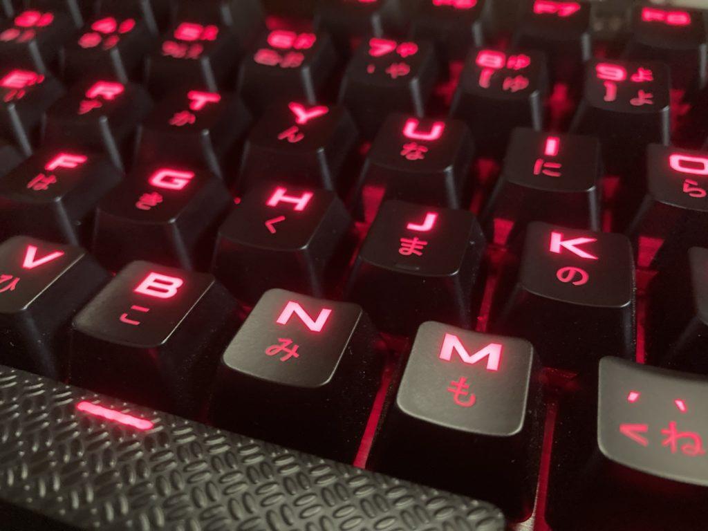 CorsairK70LUXCherryMXRedゲーミングキーボード レビュー